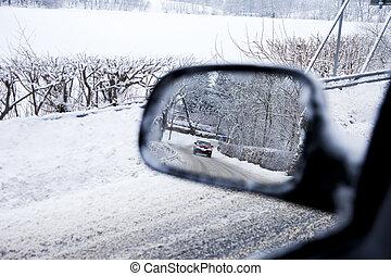 Car in a Mirror