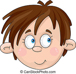face of boy - Illustration of a face of boy