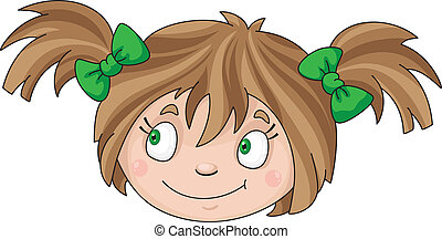 face of girl - Illustration of a face of girl