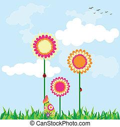 Springtime Easter holiday illustration