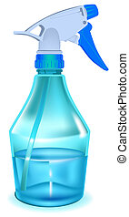Blue sprayer Illustration in vector format EPS