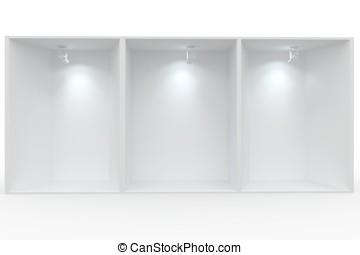 3d Empty display for exhibit