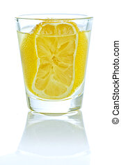 Shot of Lemon liqueur - the typical Italian liquor extracted...