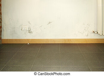 Damp moisture - Damage caused by damp and moisture on a wall