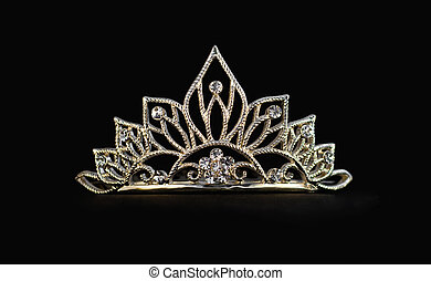 Tiara on black background