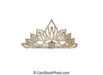 Tiara on white - Isolated tiara or diadem on white