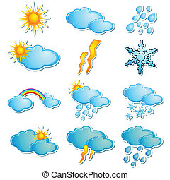 Season Icon - illustration of set of icon for different...