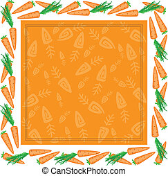 frame from different carrots - orange square frame made of...
