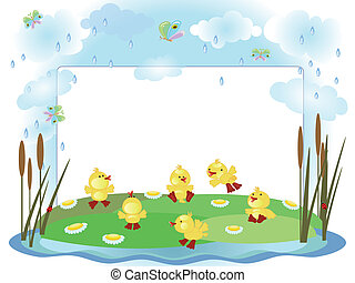 Frame,ducklings