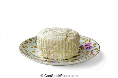 Rural cottage cheese - Natural rural cottage cheese in a...