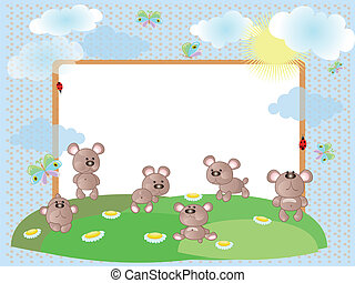 Frame with bears