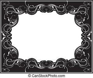 vintage vector frame - old fashioned frame in vector format...
