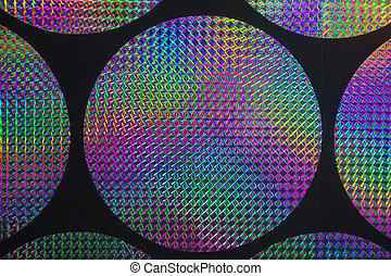 holographic patterns - Circular holographic patterns of on...