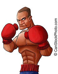 angry pugilist - angry and strong pugilist looking to punch...