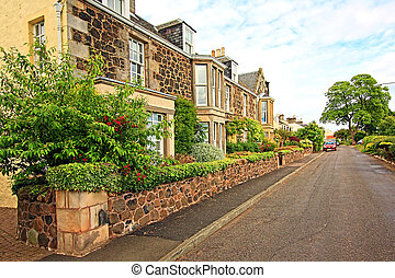 Scottish houses in Summer
