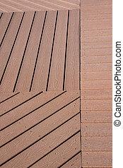 Deck floor - Close up shot of wooden deck floor