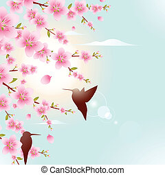 Spring Illustration - Beautiful spring illustration, with...