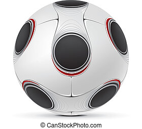 Soccer ball isolated on white background. Vector.
