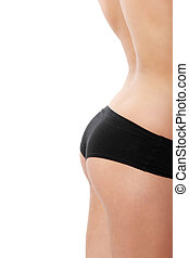 Perfect shape of woman's buttocks - studio shot isolated on...
