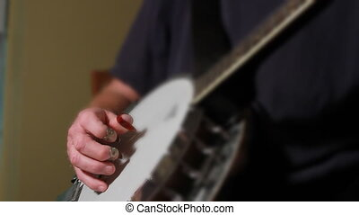 Old Man Playing Banjo Four