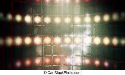 Smoky Stage Lights Backdrop Loop