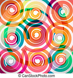 spirals background - colorful spirals abstract background...