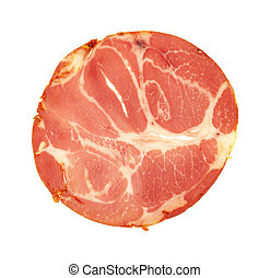 Spicy capicola luncheon meat - A single slice of hot...