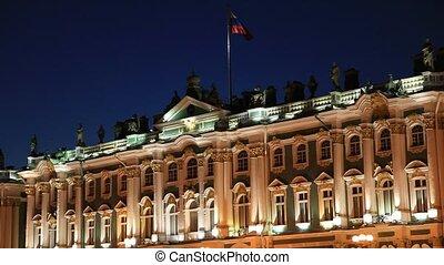 Night lighting of The State Hermita
