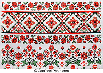 Ukrainian embroidery, towel, background, texture
