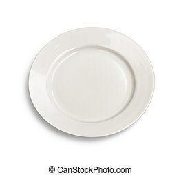 Round plate on white background
