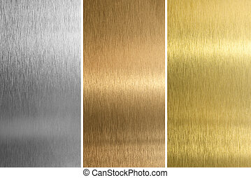 aluminio, bronce, latón, cosido, texturas