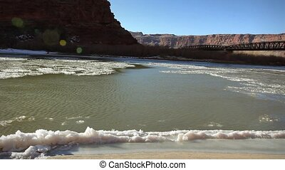 1246 Frozen Colordo River Moab UT - Great for themes of...