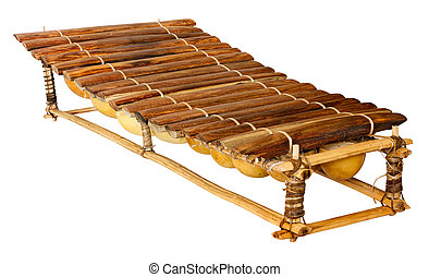 balafon, african musical instrument of wood and gourds,...