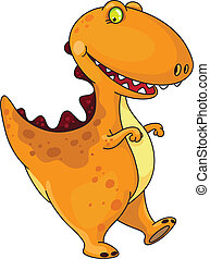funny dinosaur - An illustration of a funny dinosaur