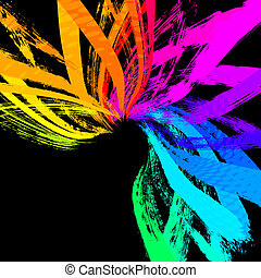 abstract grunge background, vector - colorful abstract...