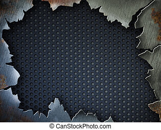 Cracked metal frame or template for your design