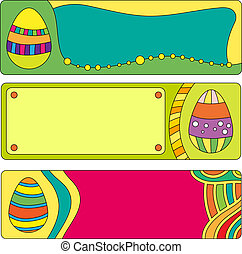 Easter vector banner or buttons wit