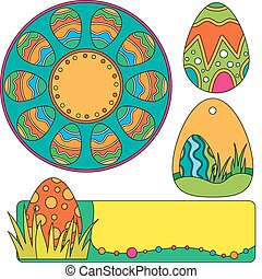 Easter vector graphics with eggs