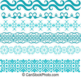 Turquoise vector trim collection