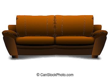sofa - illustration of sofa on white background