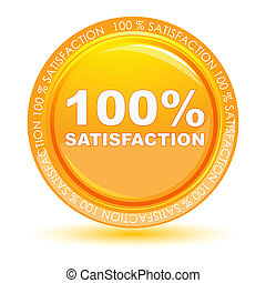 100 satisfaction tag - illustration of 100 satisfaction tag...