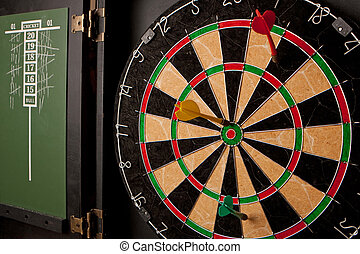 Professional Dart Board - A professional dart board enclosed...