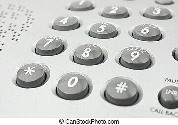 Phone keypad - Macro of phone keypad - business background