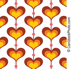 Heart Pattern - Seamless retro heart pattern wallpaper.