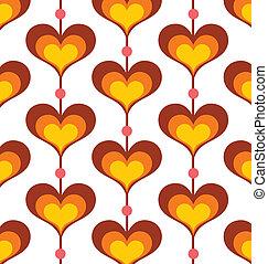 Heart Pattern - Seamless retro heart pattern wallpaper.