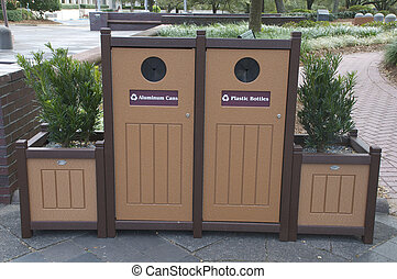 recycle bins - Aluminum Cans and Plastic Bottle recycle bins...