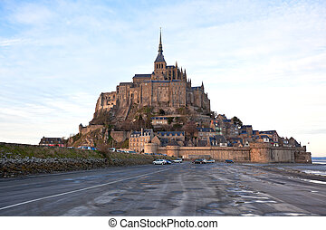 Mont Saint-Michel abbey, Brittany, France.
