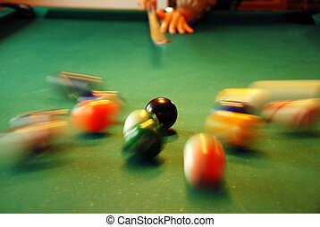 Billiards playing