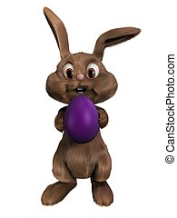 3d easter bunny - 3d rendered illustration of a bunny...
