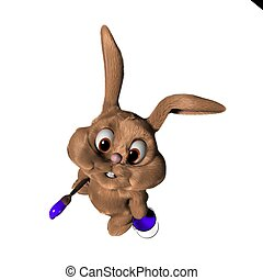 3d easter bunny - 3d rendered illustration of a bunny with...